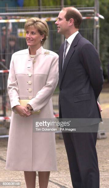 The Earl and Countess of Wessex arriving at the Disability Initiative Resource Centre in Camberley It is their first public engagement since...