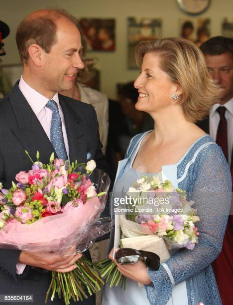 The Earl and Countess of Wessex during a visit to Whitton School and Sports College in Twickenham to mark the tenth anniversary of the Wessex Youth...