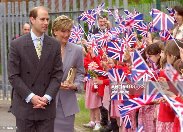 The Earl And Countess Of Wessex On A Visit To Connaught Primary School Near Their Home At Bagshot In Surrey