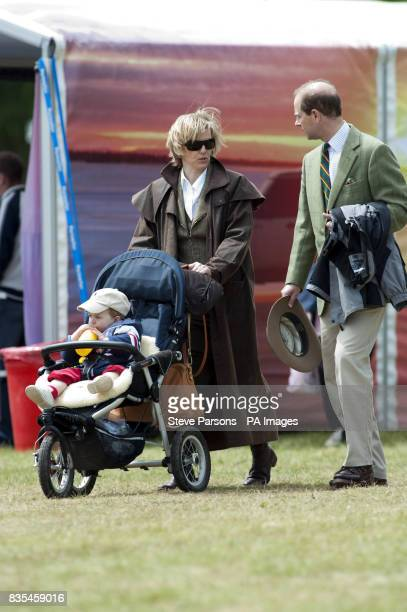 The Earl and Countess of Wessex walk around at the Windsor Horse Show in the grounds of Windsor Castle Berkshire