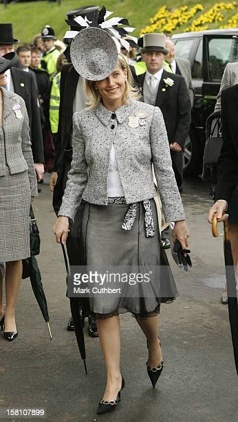 The Earl Countess Of Wessex Attend The First Day Of The 2005 Royal Ascot Race Meeting At The York Racecourse