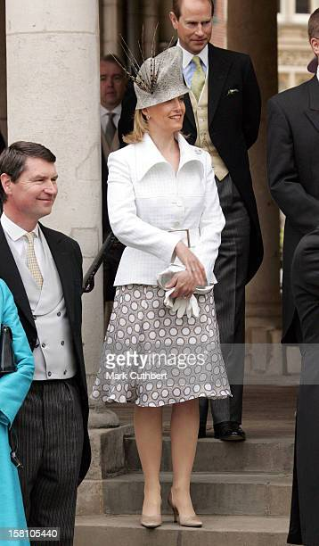The Earl Countess Of Wessex Attend The Wedding Of Hrh The Prince Of Wales Mrs Camilla Parker Bowles At The Guildhall Windsor