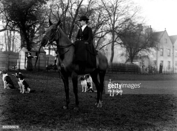 The Earl of Fitzwilliam's pack of Hounds at Bilby Mrs A Harrison Smith of Carlton Hall near Worksop Yorkshire
