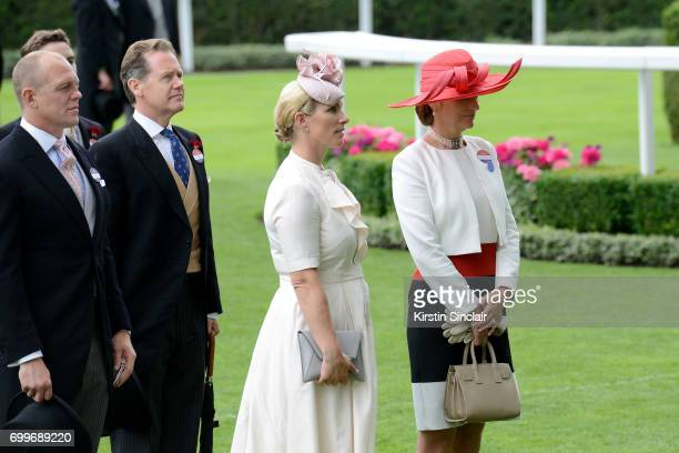 The Earl of Snowdon and Sophie Countess of Wessex are seen in the Parade Ring as they attend Royal Ascot 2017 at Ascot Racecourse on June 22 2017 in...