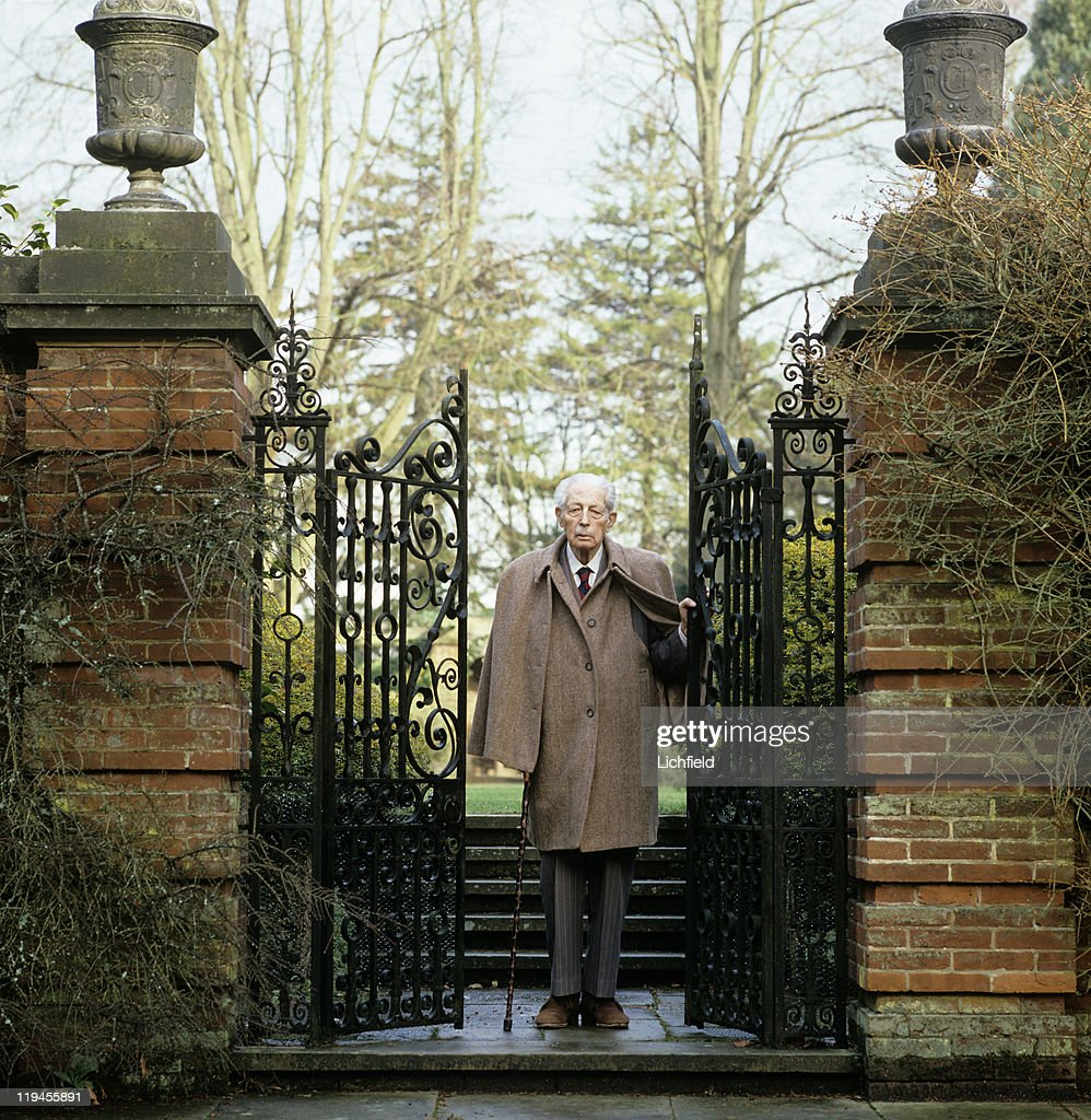 The Earl of Stockton, Formerly <a gi-track='captionPersonalityLinkClicked' href=/galleries/search?phrase=Harold+Macmillan&family=editorial&specificpeople=201465 ng-click='$event.stopPropagation()'>Harold Macmillan</a>, Conservative politician and British Prime Minister (to commemorate his 90th Birthday) at home, Birch Grove, East Sussex, 19th January 1984.