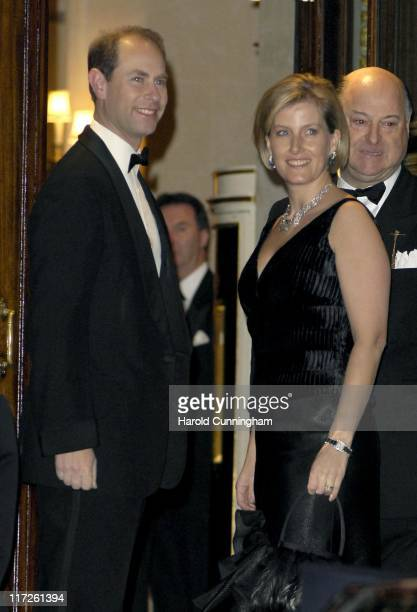 TRH The Earl of Wessex and The Countess of Wessex during HRH The Queen's 80th Birthday Party Arrivals December 5 2006 at The Ritz in London Great...