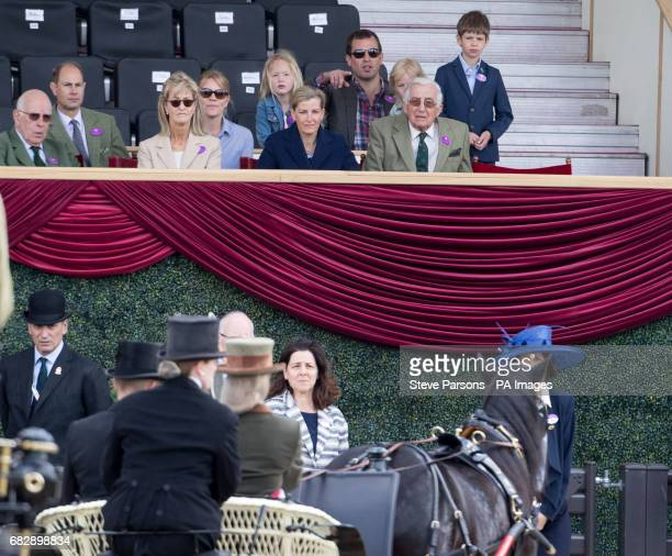 The Earl of Wessex and The Countess of Wessex watch their daughter Lady Louise Windsor at the Champagne LaurentPerrier Meet of the British Driving...