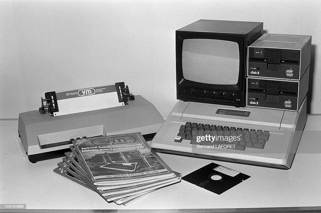 The early Apple Macintosh computer in Paris, France in December, 1981.