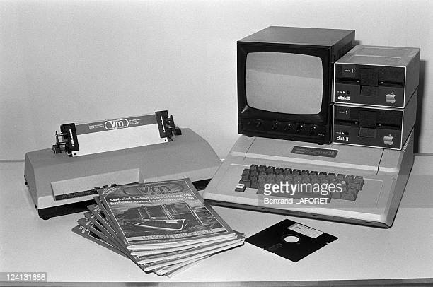 The early Apple Macintosh computer in Paris France in December 1981