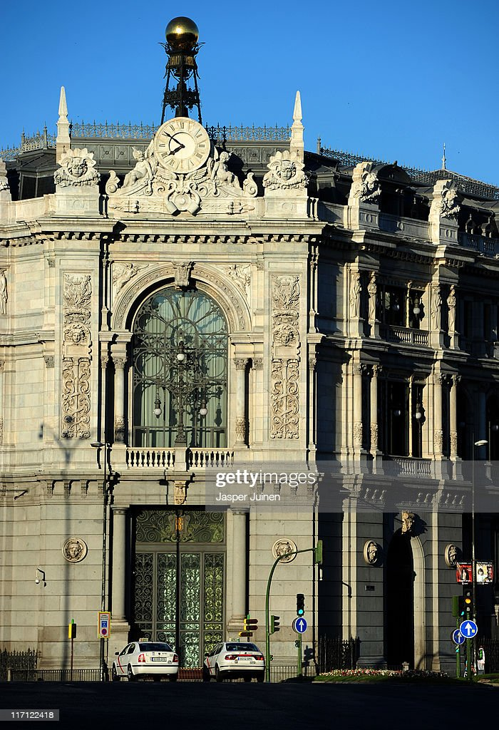 The early morning sun lights the national central Bank of Spain on June 23, 2011 in Madrid, Spain. Eurozone finance ministers are currently seeking to find a solution to Greece's pressing debt problems, including the prospect of the country's inability to meet its financial obligations unless it gets a fresh, multi-billion Euro loan by July 1. Greece's increasing tilt towards bankruptcy is rattling worldwide financial markets, and leading economists warn that bankruptcy would endanger the stability of the Euro and have dire global consequences.