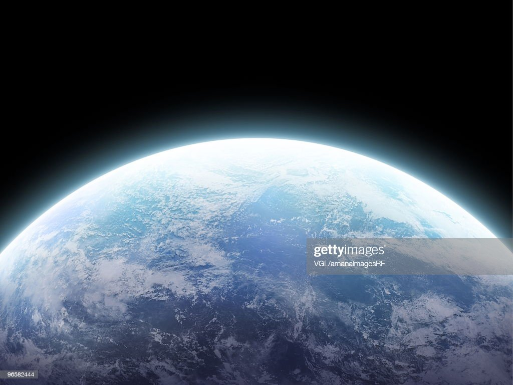 The earth, computer graphic, black background
