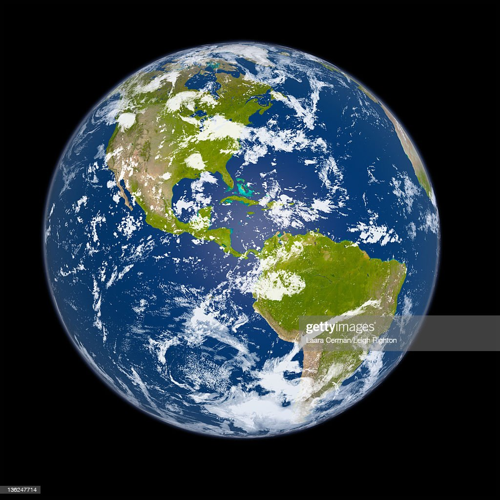 The Earth from space during the day. : Stock Photo