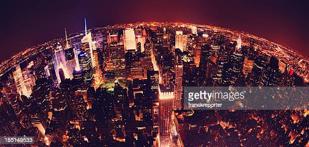 The Earth Globe from Manhattan in night - NYC