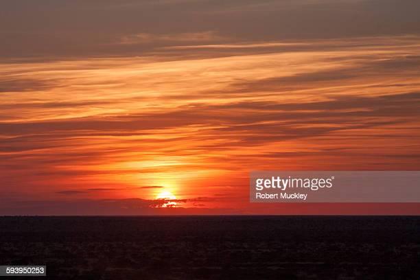 The Earth is flat, Tswalu sunset