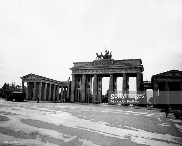 The east façade of the Brandenburg Gate East Berlin August 1961