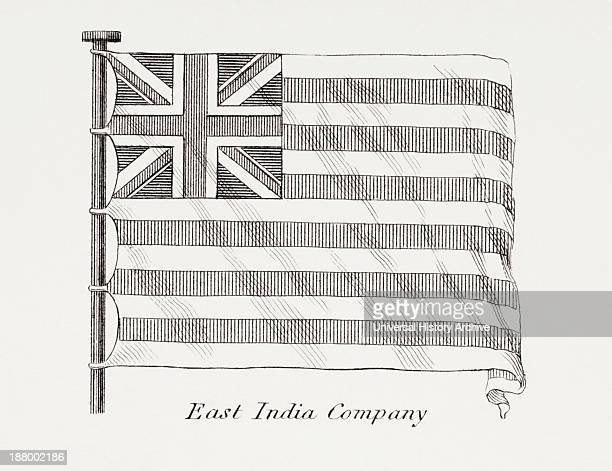 The East India Company Flag Early 19Th Century From The Cyclopaedia Or Universal Dictionary Of Arts Sciences And Literature By Abraham Rees Published...