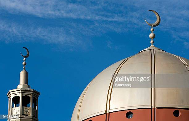 The East London Mosque and minaret sit in Whitechapel London UK on Friday Nov 14 2008 The overarching principle of Islamic finance and banking...