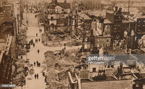 The Easter Rising Ireland 1916 Damage caused in Dublin by the disturbances which broke out on 24 April This view resembles the scenes in Flanders...