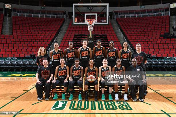 The Eastern Conference AllStars Nicki Collin Alyssa Thomas Tina Charles Stefanie Dolson Jonquel Jones Elizabeth Williams Candice Dupree Curt Miller...
