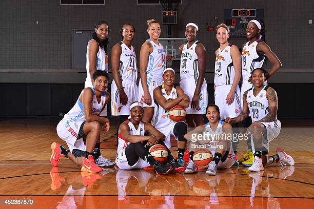The Eastern Conference AllStars pose for a team photo prior to the 2014 Boost Mobile WNBA AllStar Game on July 19 2014 at US Airways Center in...