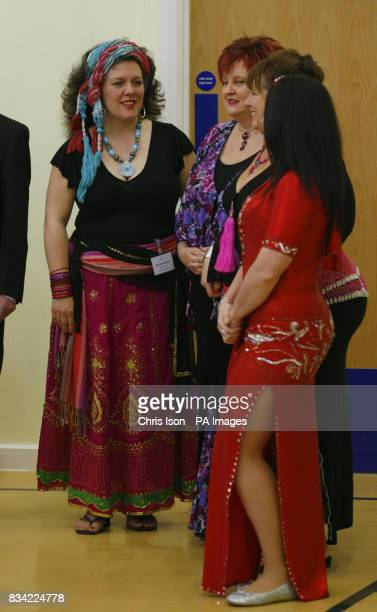 The Eastern dance group during a visit to St Thomas Community Primary School in Swansea by Her Majesty The Queen and the Duke of Edinburgh Picture...