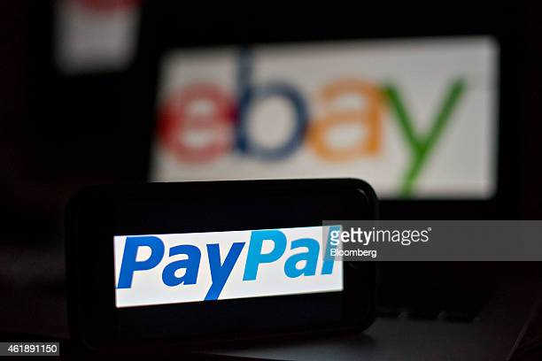 The ebay Inc PayPal logo is arranged for a photograph in Tiskilwa Illinois US on Tuesday Jan 20 2015 Ebay Inc is scheduled to release earnings...