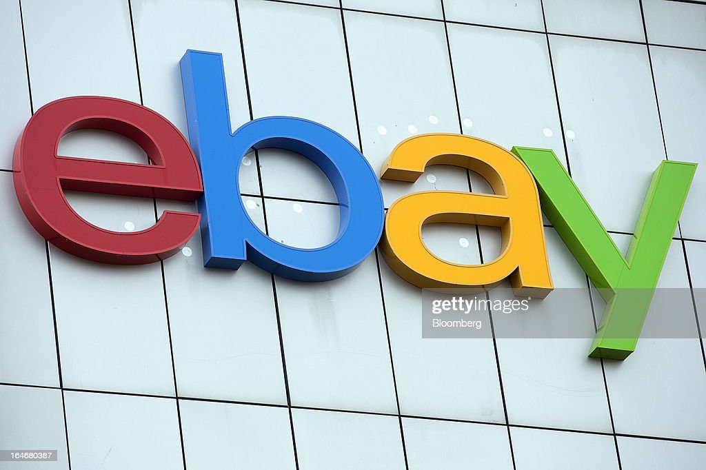 The EBay logo is seen on display on the exterior of EBay Inc.'s European headquarters at Blanchardstown in Dublin, Ireland, on Friday, March 15, 2013. Ireland's renewed competiveness makes it a beacon for the U.S. companies such as EBay, Google Inc. and Facebook Inc., which have expanded their operations in the country over the past two years. Photographer: Simon Dawson/Bloomberg via Getty Images