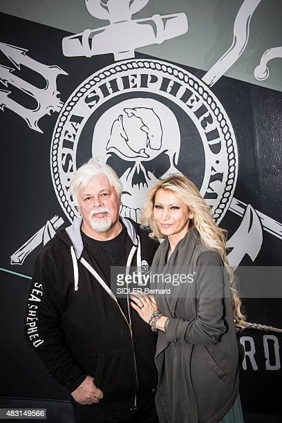 The ecologist activist Paul Watson foundator of the NGO The Sea Shephered Conservation Society is photographed for Paris Match with his wife Yana...