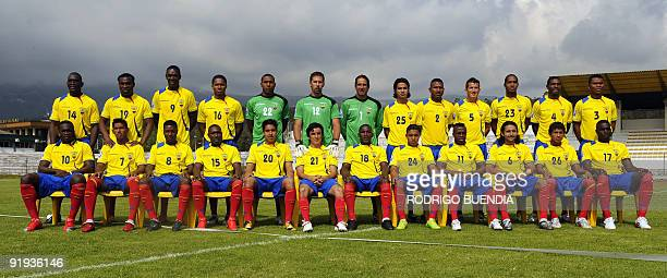 The Ecuadorean national team that will face Brazil in a FIFA World Cup South Africa2010 qualifier match on March 29 and Paraguay on April 1 poses for...