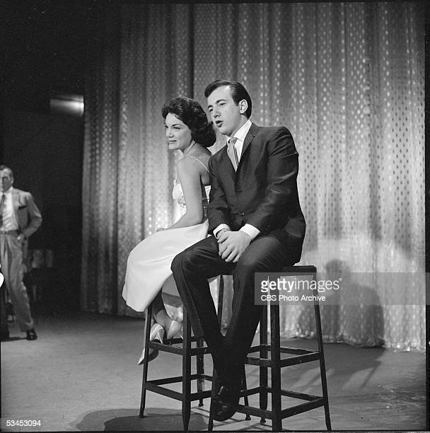 The Ed Sullivan Show featuring singer Bobby Darin performing with Connie Francis Image dated January 3 1960