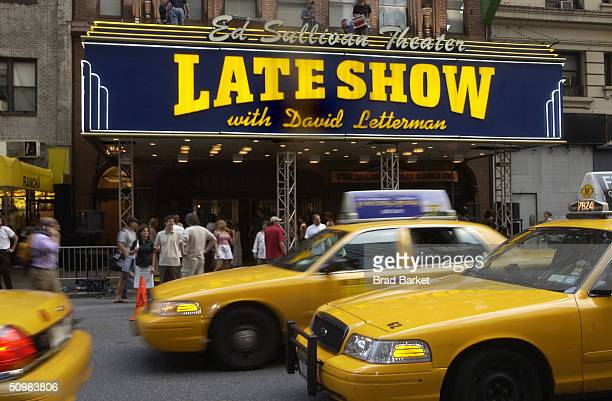 The Ed Sullivan Theater that houses the Late Shown with David Letterman Show is shown June 21 2004 in New York City Phish performed on top of theater