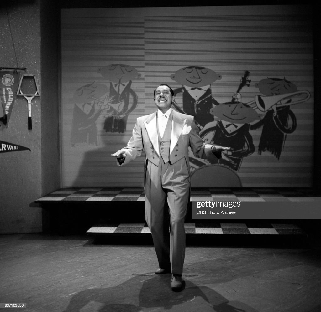 The Eddie Albert Show CBS television daytime variety program. Pictured is guest singer / musician Cab Calloway. New York, NY. Image dated April 20, 1953.