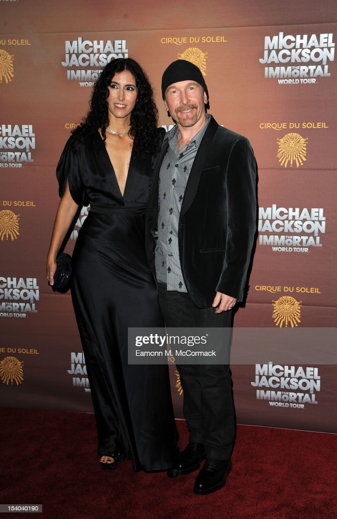 The Edge and Morleigh Steinberg attend the opening night of Cirque Du Soleil's 'Michael Jackson The Immortal World Tour' at 02 Arena on October 12, 2012 in London, England.