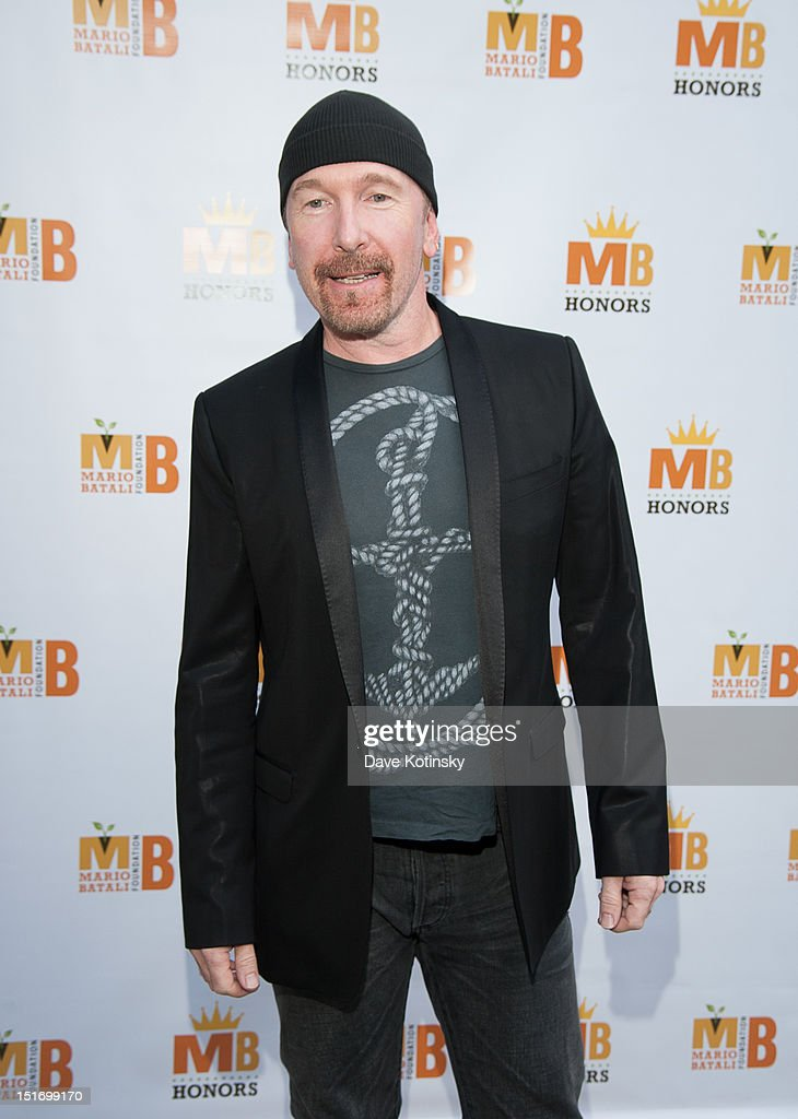 The Edge attends The Mario Batali Foundation Inaugural Honors Dinner at Del Posto Ristorante on September 9, 2012 in New York City.