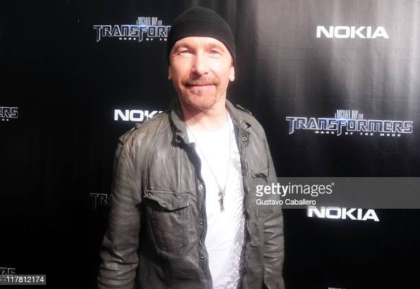 The Edge attends the special red carpet VIP screening of 'Transformers Dark of the Moon' at Regal South Beach on June 30 2011 in Miami Florida