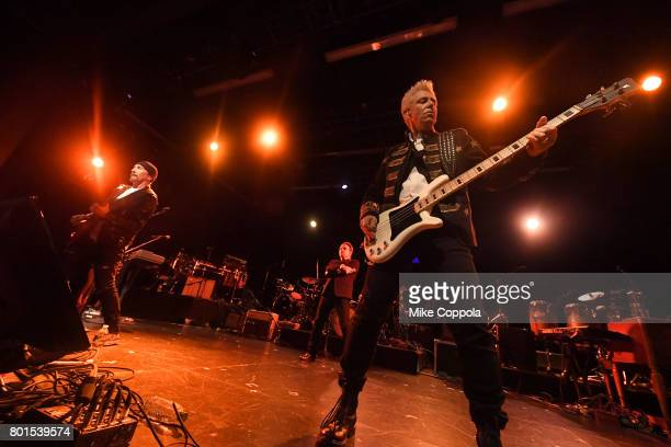 The Edge Bono and Adam Clayton of U2 perform at the 13th Annual MusiCares MAP Fund Benefit Concert at the PlayStation Theater on June 26 2017 in New...