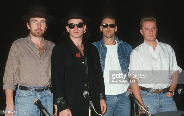 The Edge Bono Larry Mullen and Adam Clayton of U2