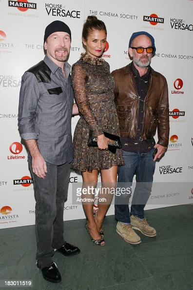 The Edge Helena Christensen and Michael Stipe attend the Marvista Entertainment Lifetime with The Cinema Society screening of 'House of Versace' at...