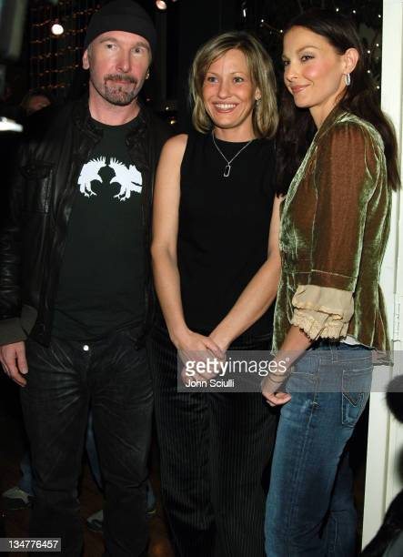 The Edge Joey Lauren Adams and Ashley Judd during 2006 Park City 'Leonard Cohen I'm Your Man' Party at 540 Main Street in Park City Utah United States