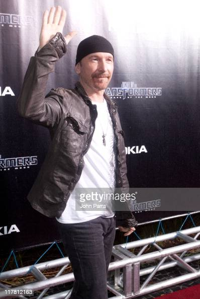 The Edge of U2 arrives at the red carpet VIP screening of 'Transformers Dark of the Moon' at Regal South Beach Cinema on June 30 2011 in Miami Beach...