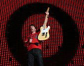 The Edge of U2 during U2 in Concert in Honolulu December 9 2006 at Aloha Stadium in Honolulu Hawaii United States