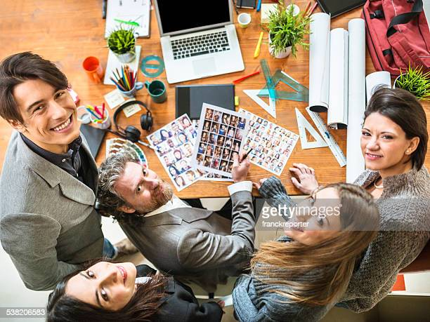 The editor at work with his team
