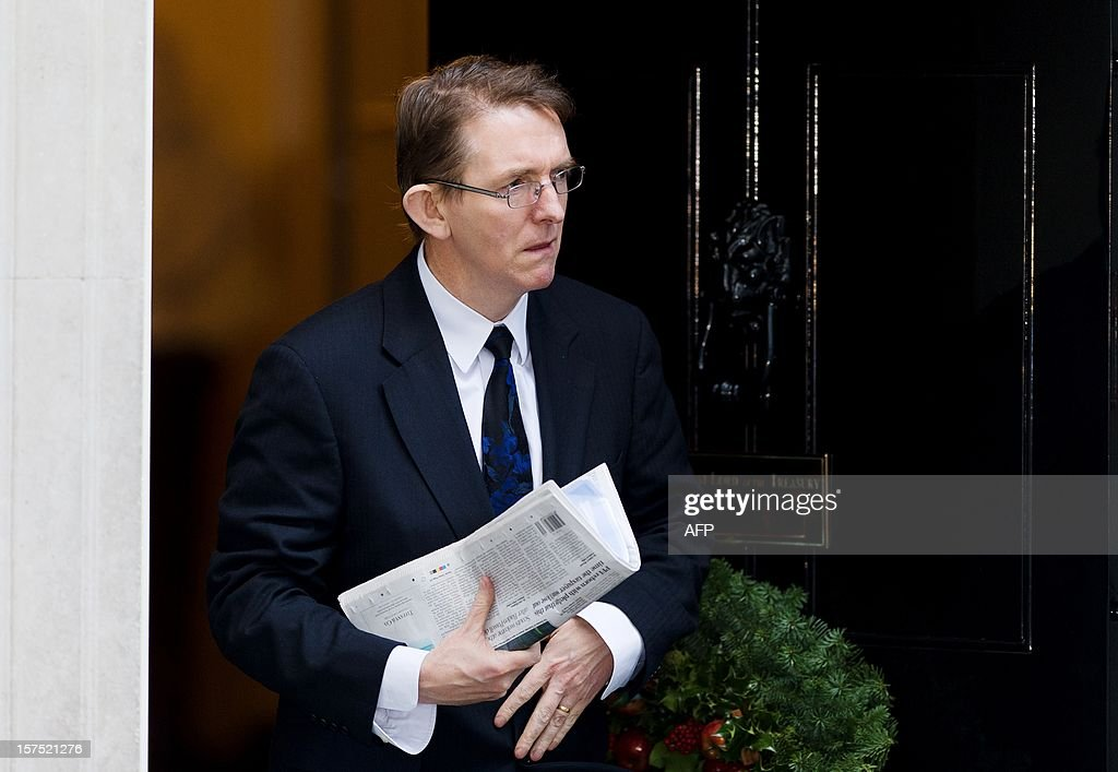 The editor of The Daily Telegraph Tony Gallagher leaves Downing Street following a meeting to discuss the regulation of newspaper conduct in London on December 4, 2012. Prime Minister David Cameron met with editors of major British newspapers following proposals set out by judge Brian Leveson in a major report into press ethics in Britain, conducted in the wake of the phone-hacking scandal at Rupert Murdoch's News of the World. AFP PHOTO/Leon Neal