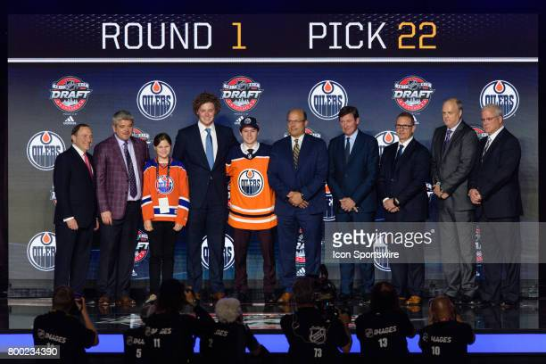 The Edmonton Oilers select right wing Kailer Yamamoto with the 22nd pick in the first round of the 2017 NHL Draft on June 23 at the United Center in...