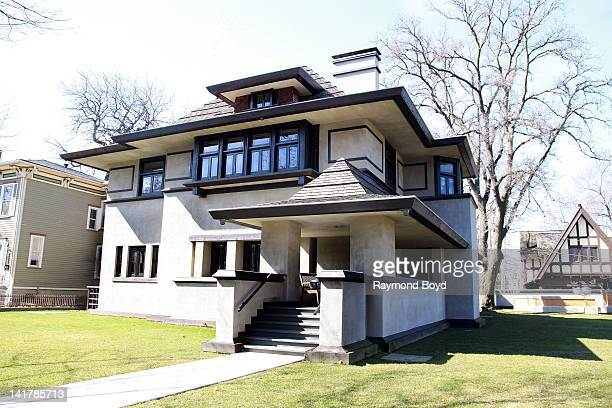 The Edward R HillsDeCaro House built in 1906 and designed by famed architect Frank Lloyd Wright in Oak Park Illinois on MARCH 10 2012