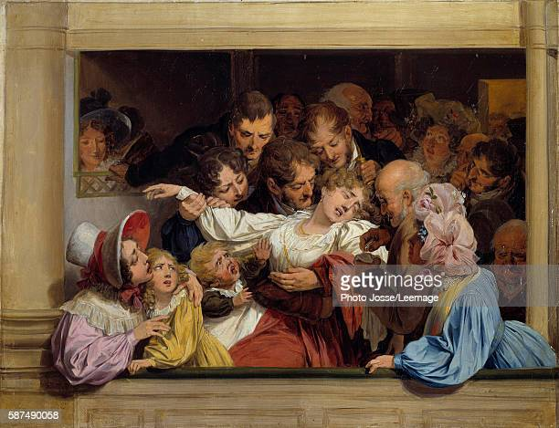 The Effect of Melodrama Painting by Louis Leopold Boilly 1830 032 x 041m Lambinet museum Versailles France