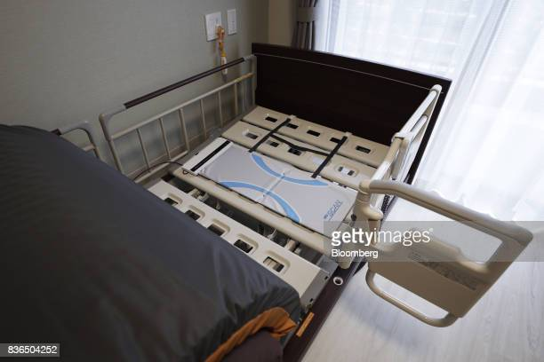 The 'EGAO link' system uses Paramount Bed Co's monitoring sensor to detect residents' sleeping conditions at the As Partners Co's Asheim Nerima...
