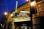 The Egyptian Theater at dusk on Day 1 of the 2012 Sundance Film Festival on January 19 2012 in Park City Utah