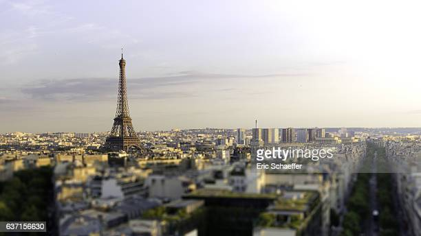 The Eiffel tower and the city scape