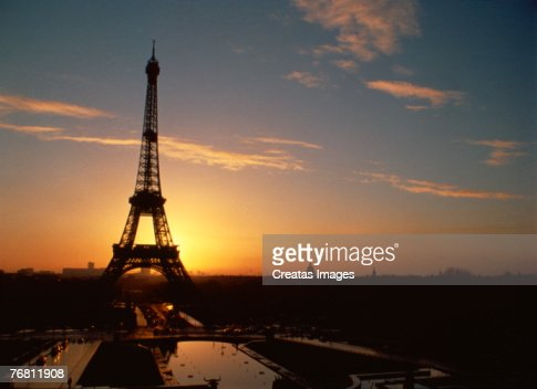 The Eiffel Tower at sunset, Paris, France : Stock Photo